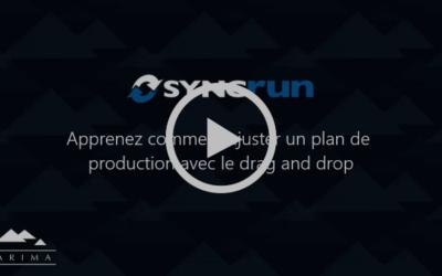 Ajuster un plan de production dans Syncrun