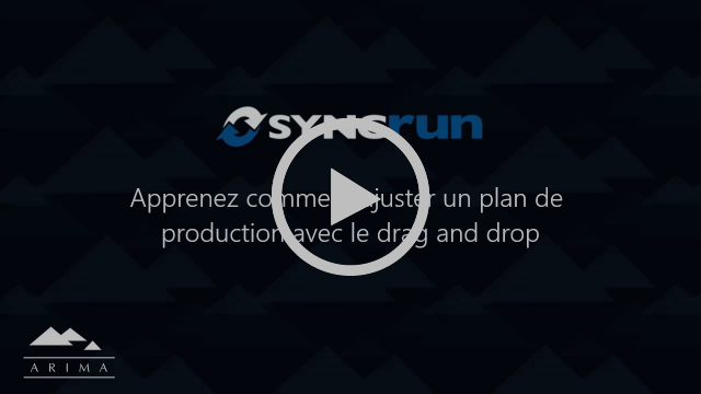 Ajuster un plan de production dans Syncrun